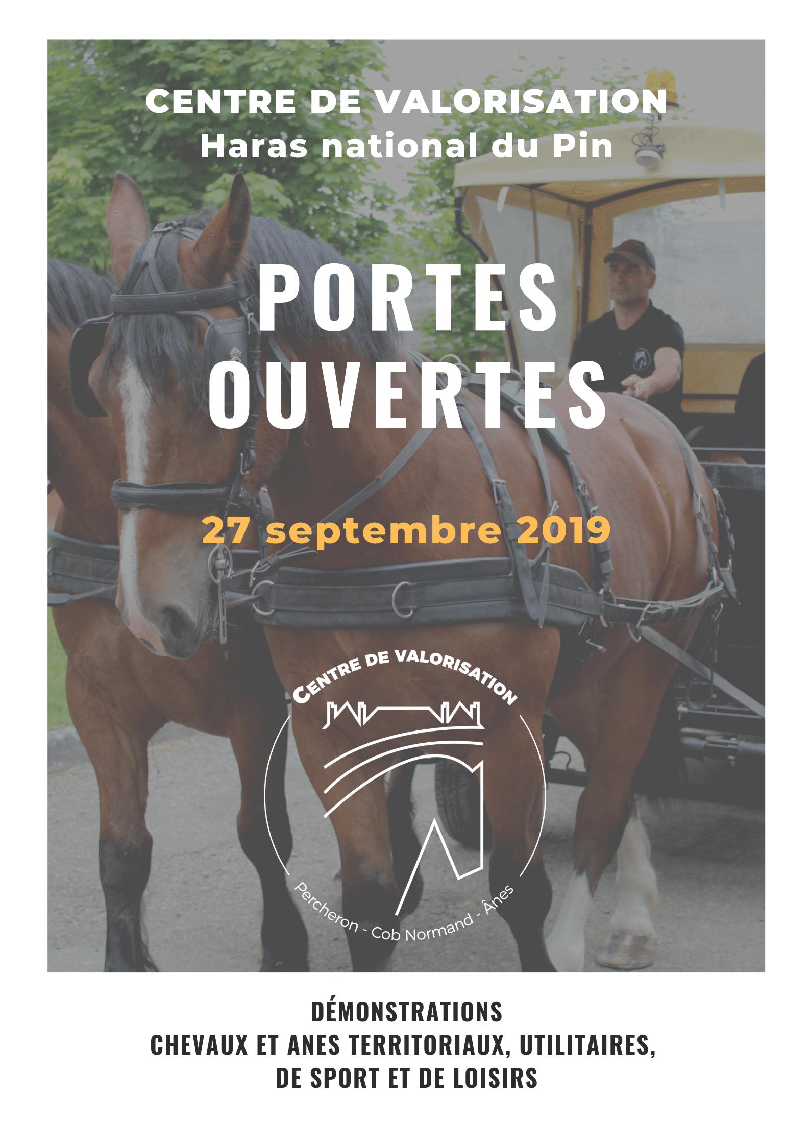 Portes ouvertes le 27 septembre 2019