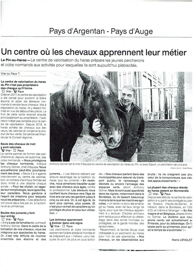 Read more about the article Presse – Ouest France 12 février 2019