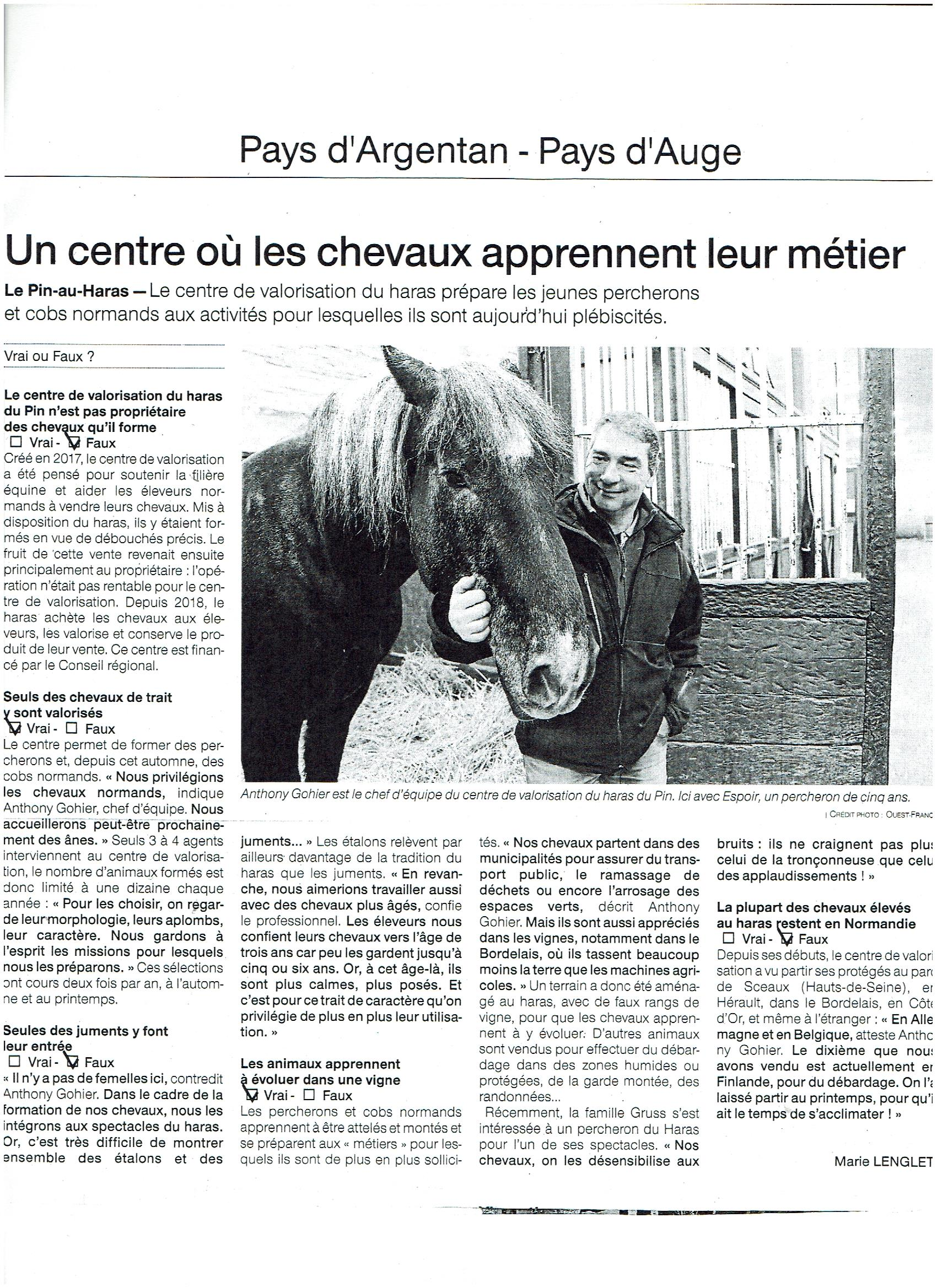 You are currently viewing Presse – Ouest France 12 février 2019